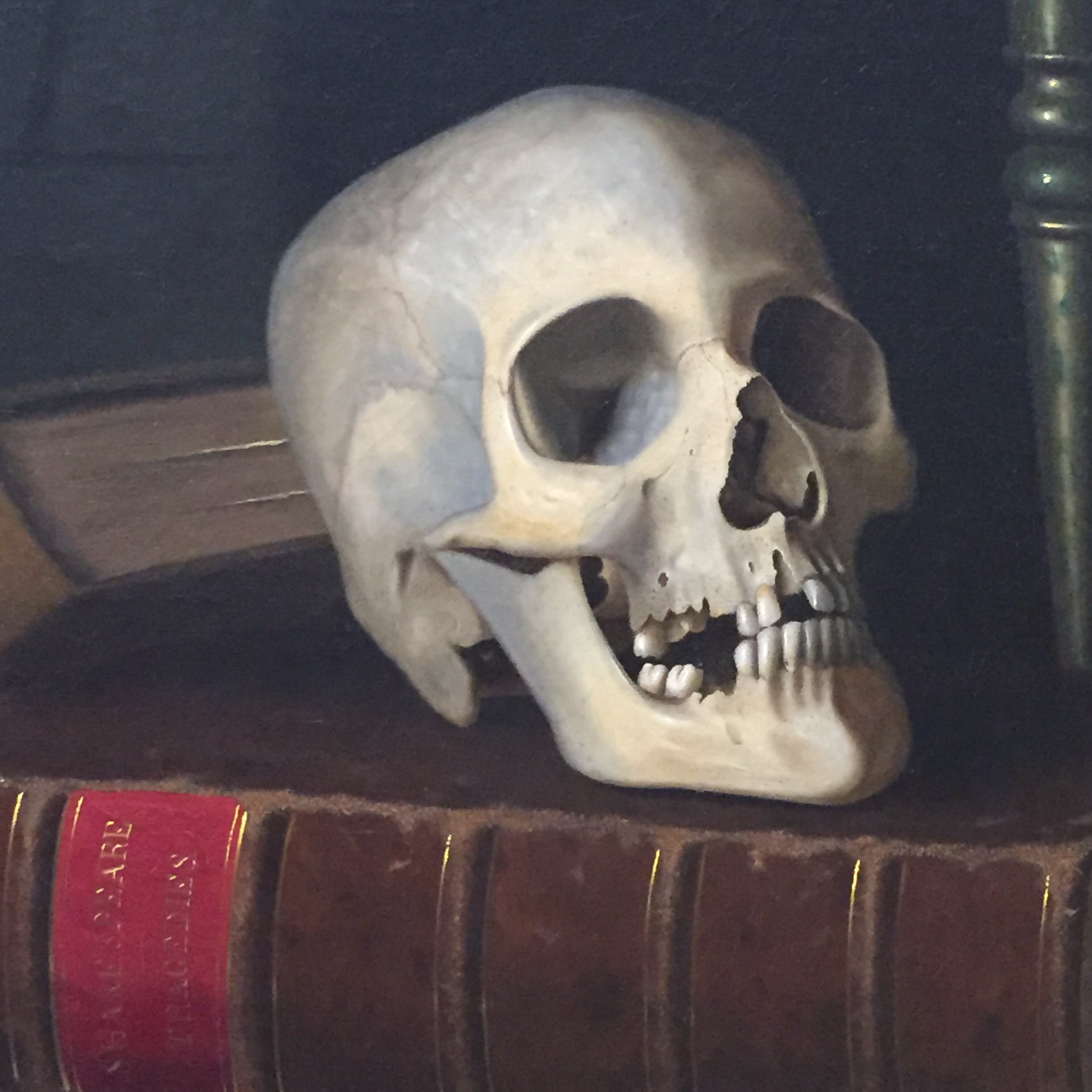 Skull indicating time is up