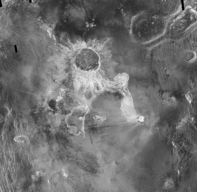 2nd Largest impact crater on Venus